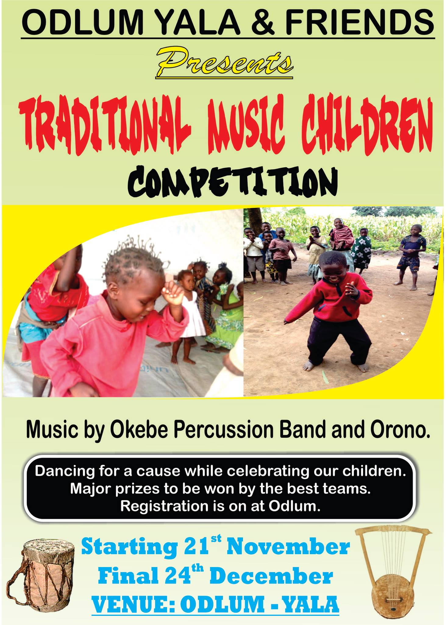 Flyer for Odlum-Yala Traditional Music Children Festival