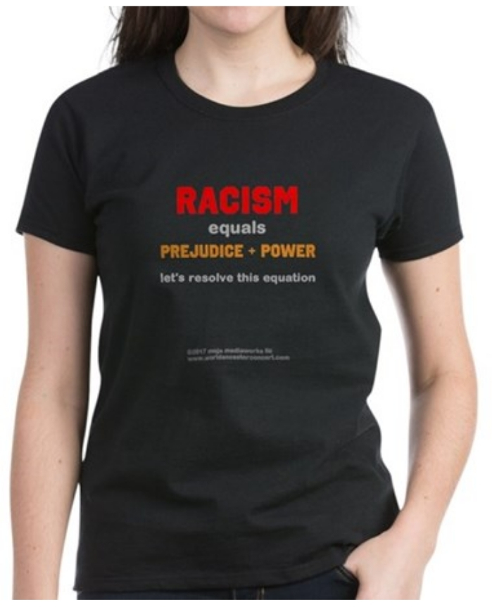 Racism = Prejudice + Power design t-shirt