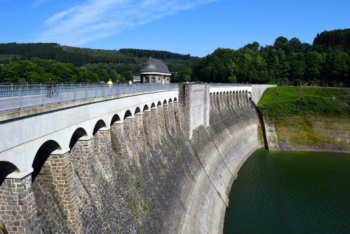wide angle shot of a dam, representative of the way many men hold back their feelings, hiding their vulnerability, sensitivity, importance parts of their strength and humanity